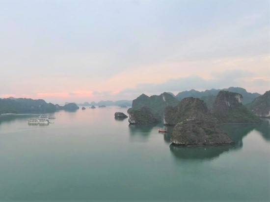 Halong Bay in the morning