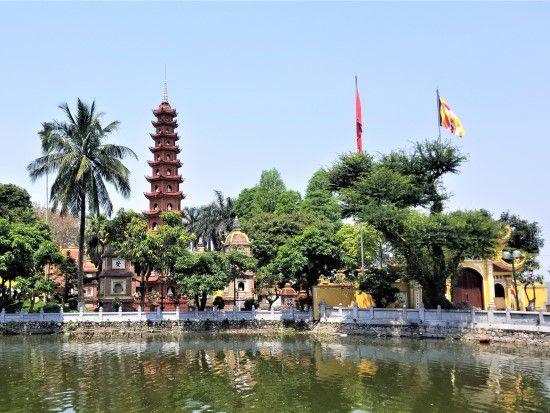 Tran Quoc Pagoda - Hanoi City Tour