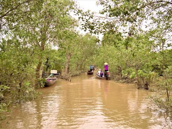 boat ride on Mekong
