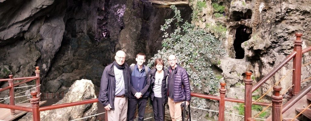 Dawn and her group visited Ha Long Bay