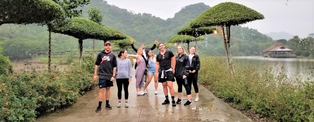 Katy and her group in Thung Nham Bird Sanctuary